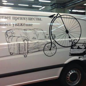 наклейка на фургон
